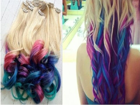 Couleurs cheveux flashy
