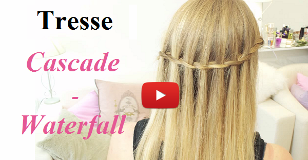 coiffure waterfall braid tresse cascade. Black Bedroom Furniture Sets. Home Design Ideas