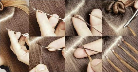 Extensions de cheveux micro anneaux à loop