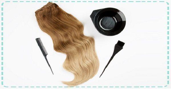 teindre les extensions de cheveux