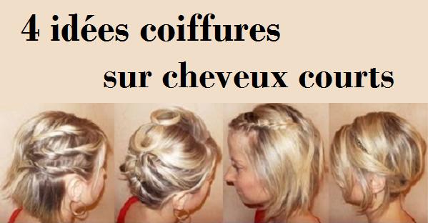 Souvent 4 idées coiffures sur cheveux courts BI89