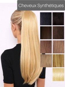 postiche de cheveux synthétiques