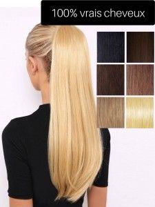 Postiche de cheveux vrai cheveux