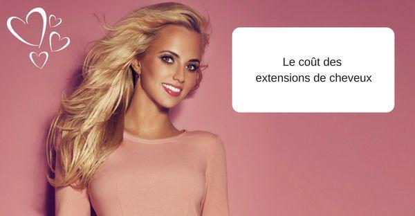 Le coût des extensions de cheveux