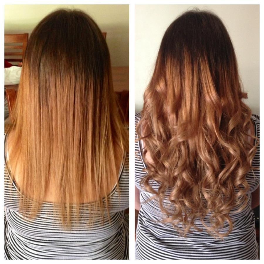 Avant après extensions de cheveux