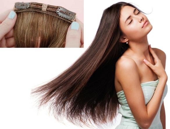 Rallonges avec clips 100% vrai cheveux humains naturels