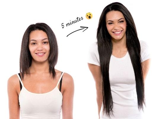 Rallonges pour cheveux à clips