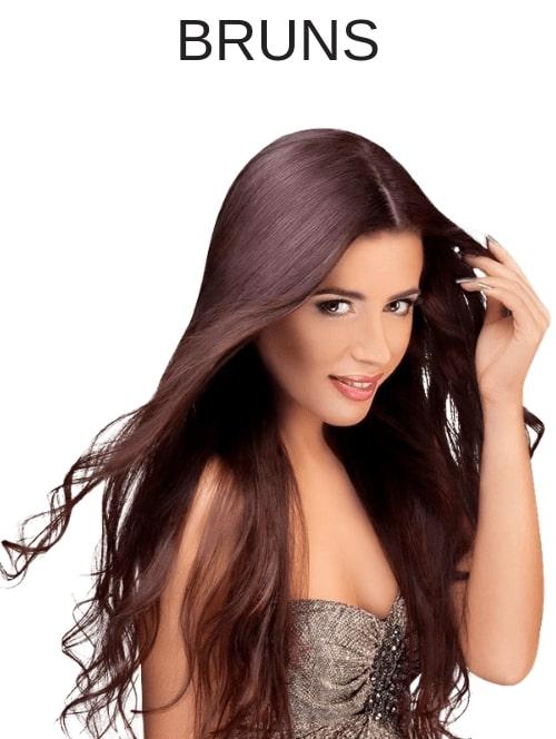 Rallonges cheveux couleurs bruns
