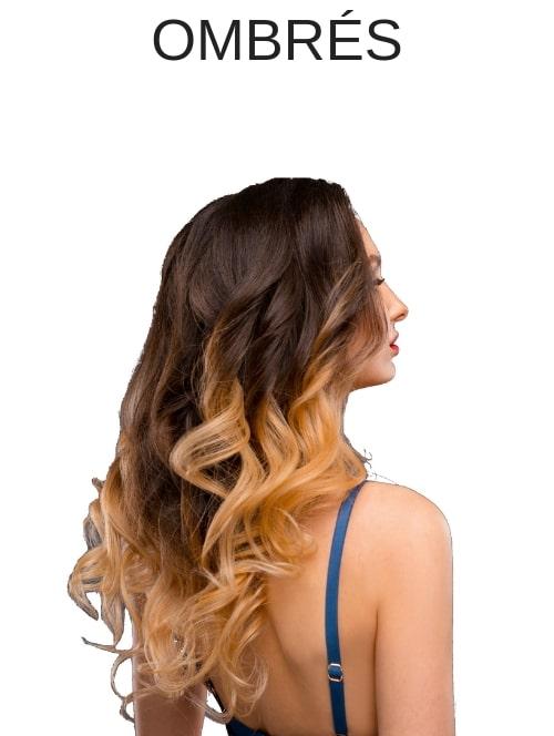 Rallonges cheveux couleurs Ombrés
