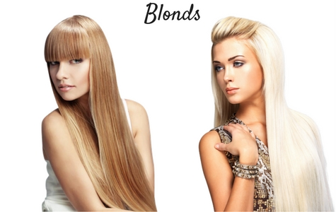 Rallonges cheveux couleurs blondes