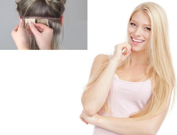 Rallonges à bandes adhésives extensions cheveux