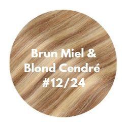 extensions cheveux brun miel et blond cendré foncé