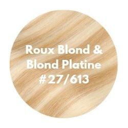 extensions cheveux roux blond et blond platine