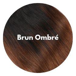 extensions cheveux ombré brun noisette
